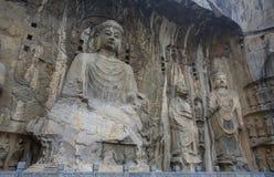 Locana Buddha på Longmen grottor Arkivbild