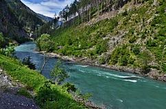 Locanda austriaca del Alpe-fiume Immagine Stock