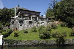 Locanda dell` Isola Comacina på sjön Como Arkivfoton