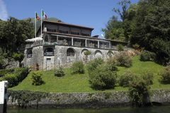 Locandadell ` Isola Comacina op Meer Como Stock Foto's