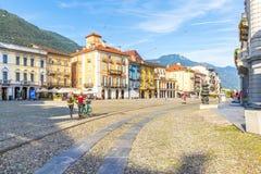 Locarno, Canton Ticino, Switzerland, 05 september 2017. Locarno. Locarno, Canton Ticino, Switzerland, 05 september 2017. View of Locarno city center, in canton stock image
