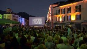 Locarno Film Festival in Switzerland. LOCARNO - AUGUST 09th: Locarno Film Festival in Switzerland on August 9th, 2013. For eleven days every summer the Swiss stock video