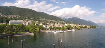 Locarno - lago Maggiore - Suiza fotografía de archivo