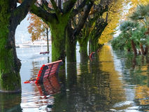 Locarno, lakeside flooded Stock Images