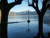 Locarno, lakeside flooded Royalty Free Stock Image