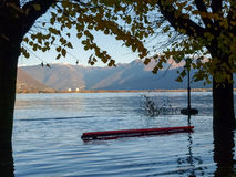 Locarno, lakeside flooded Stock Photography
