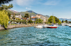 Locarno Lakeside, situated on the lake Maggiore, Switzerland Royalty Free Stock Images