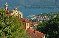 Locarno, Meer Maggiore, Ticino Royalty-vrije Stock Afbeelding