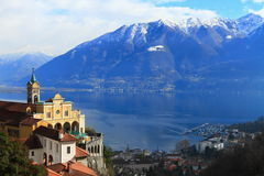 locarno switzerland Royaltyfria Foton