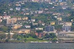 Locarno Szwajcaria na brzeg jeziorny Maggiore zdjęcia stock