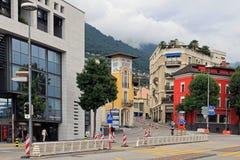 Locarno Szwajcaria na chmurnym letnim dniu fotografia stock