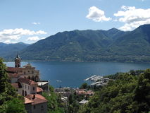 Locarno, Ticino, Switzerland. A view of Locarno town , Ticino Canton, Switzerland Stock Photo