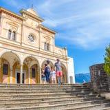 Locarno, Ticino, Szwajcaria , 05 2017 Wrzesień Madonna Del Sas Zdjęcie Stock