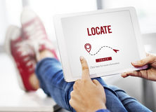 Locate Location Direction Destination Position Concept Royalty Free Stock Photos