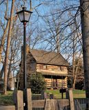 Johann Jacob Log Home. Located in Central Park in King, North Carolina, this cabin was built in 1774 by immigrant Johann Jacob and his wife Anna Catherine.  They Royalty Free Stock Photography