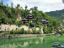 Zhenyuan ancient town, China stock photography