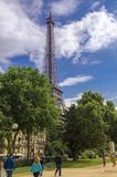 Eiffel tower, Paris at your feet royalty free stock photography