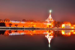 Mandalay palaces gate in night Stock Images
