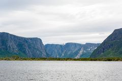 Entrance to Western Brook Pond Gros Morne National Park, Newfoundland. Located just outside of Rocky Harbour, Newfoundland, Gros Morne National Park provides Royalty Free Stock Photography
