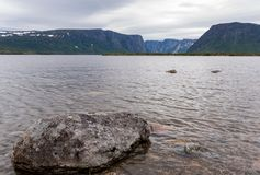 Western Brook Pond Gros Morne National Park, Newfoundland. Located just outside of Rocky Harbour, Newfoundland, Gros Morne National Park provides spectacular Stock Photos