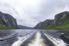 Western Brook Pond Gros Morne National Park, Newfoundland. Located just outside of Rocky Harbour, Newfoundland, Gros Morne National Park provides spectacular Royalty Free Stock Images