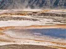 Excelsior Geyser in Yellowstone National Park royalty free stock images
