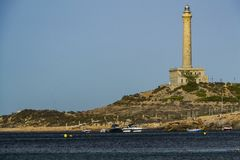 Lighthouse of Cabo de Palos stock photos
