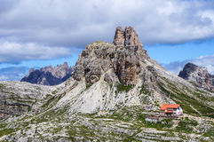 Locatelli refuge, Dolomites Stock Photos