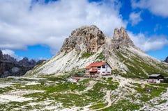 Locatelli schronienie, dolomity fotografia royalty free