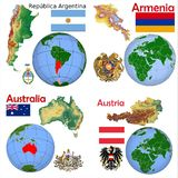Location Argentina,Armenia,Australia,Austria Royalty Free Stock Image