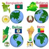 Location Bangladesh,Belarus,Belize,Benin Stock Photos