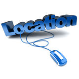 Location bleu Stock Photos