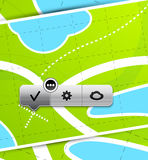 Location buttons Royalty Free Stock Image
