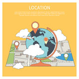 Location concept. World map infographic Royalty Free Stock Images
