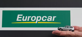 Location d'Europcar Photo libre de droits