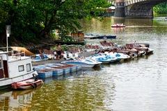 Location de bateau à Prague Photo libre de droits