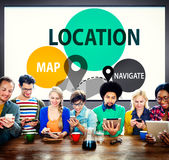 Location Destination Navigation Map Direction Concept Stock Photography