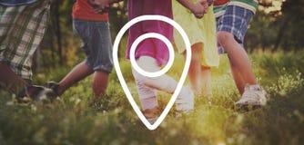 Location Destination Navigation Pointer Concept stock images