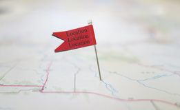 Location flag Royalty Free Stock Photos