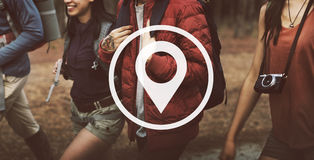 Location Global Positioning System Navigation Trip Concept Royalty Free Stock Images