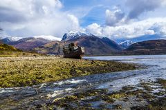 The beautiful view at Corpach near Fort William in the Highlands of Scotland stock image