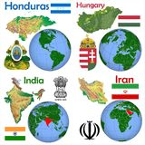 Location Honduras,Hungary,India,Iran Stock Photography