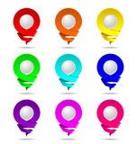 Location Icon 3D. Popular Colors. Royalty Free Stock Image