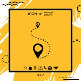 Location symbol Icon. Location Icon . Element for your design Stock Images