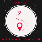 Location Icon. Graphic element for your design Royalty Free Stock Images