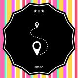 Location Icon symbol. Location Icon . Signs and symbols - graphic elements for your design Royalty Free Stock Photo