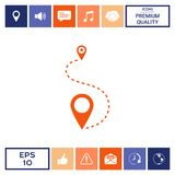 Location Icon symbol. Location Icon . Signs and symbols - graphic elements for your design Stock Photos