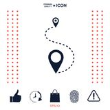 Location Icon symbol. Location Icon . Signs and symbols - graphic elements for your design Royalty Free Stock Images
