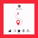 Location Icon symbol. Location Icon . Signs and symbols - graphic elements for your design Stock Image