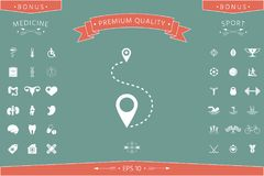 Location Icon symbol. Location Icon . Signs and symbols - graphic elements for your design Royalty Free Stock Photography